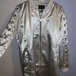 Metallic silk jacket